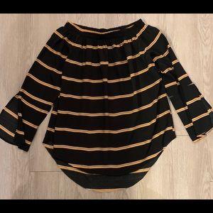 Faithfull the Brand blouse 6 black & tan